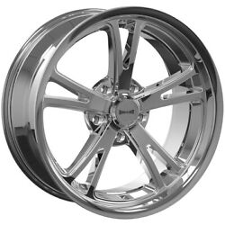 Staggered-ridler 606 Front20x8.5rear20x10 5x4.5 +0mm Chrome Wheels Rims