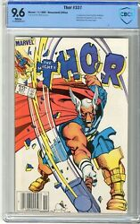 Thor 337 Cbcs 9.6 Nm+ White Pgs 11/83 1st App. Of Beta Ray Bill And Skuttl