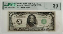 1934 A 1000 Pmg Vf 30 Federal Reserve Note Higher Grade One Thousand