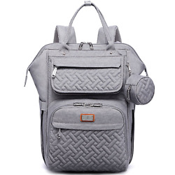 Diaper Bag Backpack BabbleRoo Multifunction Large Baby Bags with Changing Pad amp; $62.58