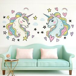 Unicorn Wall Sticker Decals Removable For Bedroom Kids New Wallpaper Large Size