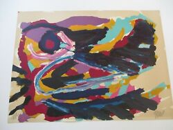 Karel Appel H.c Lithograph Nesting Birds Limited Abstract Signed Modernism Rare