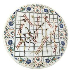 White Marble Dining Table Top Snake And Ladder Game Table Living Home Decors W095