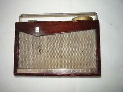 Sony Tr-72 Rare 1950s Vintage Wooden Transistor Radio - Looks Good And Works Great