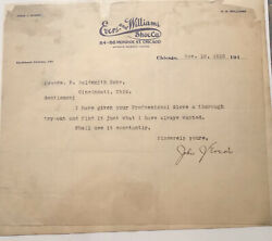 Cubs Johnny Evers Autograph - Signed Letter Dated Nov 12, 1910 Psa/dna Graded 8