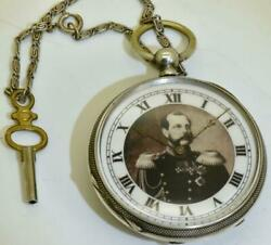 Antique Imperial Russian Officer's Award Silver Pocket Watch.russo-turkish War