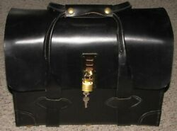 Vintage Us Military Issue Leather Money Bag Document Flight Briefcase By Hillco