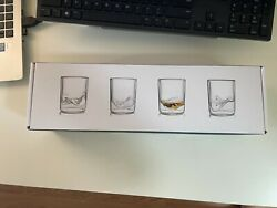 Whiskey Peaksthe Rockies - Unopened Set Of 4 Whiskey Glasses From Huckberry