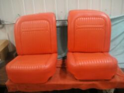 1958 Corvette Signet Red Seat Tops And Bottoms See Photo