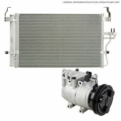 For Ford Focus 2012-2015 Oem Ac Compressor W/ A/c Condenser And Drier Tcp