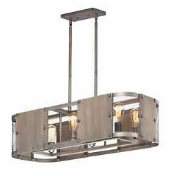 Maxim Outland 6-light Pendant Light In Barn Wood And Weathered Zinc
