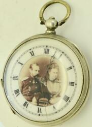 Imperial Russian Officer's Silver S.peaain,geneve Pocket Watch.russo-turkish War