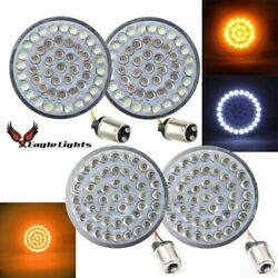 Eagle Lights 2 Inch Front 1157 And Rear Amber 1156 Led Turn Signal Kit