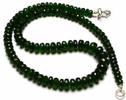 Super Top Quality Chrome Diopside Facet Big 6 To 9mm Rondelle Beads Necklace 16