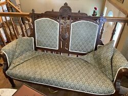 Antique Early Settee And Bench Victorian Gingerbread Woodworking