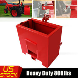 Tractor Counterweight Ballast Box 3 Point Quick Tach Hitch Receivers Attachments