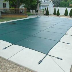 Mesh Safety Cover 18x36 Ft Rectangle With Center Step