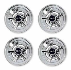 Nokins Golf Cart Ss Wheel Covers Hub Caps For Most Golf Carts 8 Inchset Of 4 ...