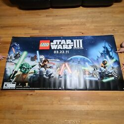 Lego Star Wars 3 The Clone Wars 3.22.11 Video Game Release Vinyl Banner Poster