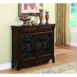 Powell Edenton Light Cherry Scroll Console Cherry Modern And Contemporary