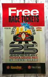 Vintage Long Beach Toyota Grand Prix Racing 1975 To 1999 Poster 46x28 Promotion