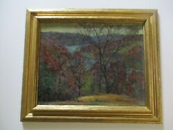 Antique Impressionist Painting Chunky Buttery Oil On Canvas 1920and039s Plein Air Old