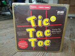 Bsiri Tic Tac Toe Wooden Board Game Table Toy Player Room Decor Tables Standard