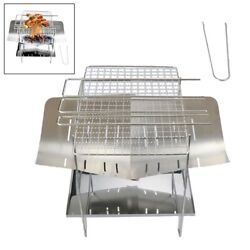 Bbq Barbecue Grill Ultralight Folding Campfire Wood Fire Stove Camping Outdoor