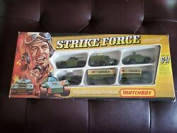 Matchbox Superfast 1975 G-11 Strikeforce Gift Set With Rare Motorcycle In Box