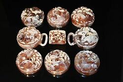 Rare Chinese Ming Dy Old Agate Carnelian Carved Beer Design Dai Ban Repair