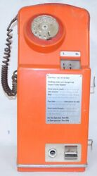 Rotary Dial Telephone British Phone Booth Red Orange Gpo Pay Phone Kiosk Coin