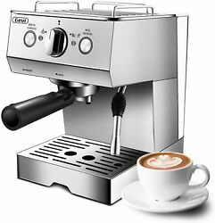 1.5l Removable Tank, 15 Bar Espresso Coffee Machine, Milk Frother, Latte And Mocha