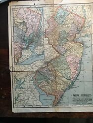 1912 Vintage New Jersey Antique Map