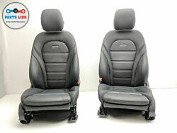 2017-2018 Mercedes C63 Amg W205 Front Driver And Passenger Complete Seat Set Oem
