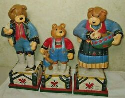 Vintage House Of Hatten The Three Bears Set Mama Papa And Baby 1996 Denise Calla