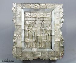 Antique Jerusalem / Italian Carved Mother Of Pearl Icon Panel