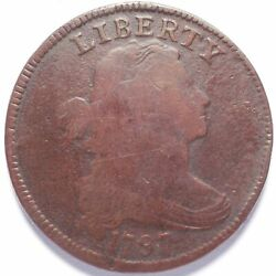 1797 Large Cent Draped Bust Gripped Edge Reverse Of 1795
