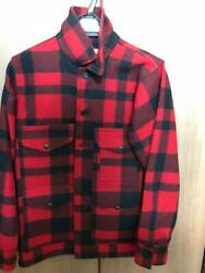 Filson Mackinaw Cruiser Jacket Red Check Wool Size 34 Used From Japan