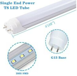 T8 Single End Power 4foot Frosted Lens 4ft Led Shop 18w Fluorescent Tube Light