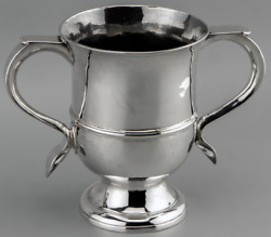 1763 Fine Heavy Sterling Silver Twin Handled Loving Cup By Benjamin Cartwright I