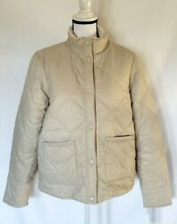 Barbour Coastal Collection Whelk Quilted Reversible Jacket Mist Size Us 10 New