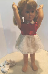 Vintage Mattel Chatty Cathy Doll With Freckles W String 1960 Original Clothes