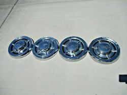 Set Of 4 1958 1959 1960 Chevy Belair Biscayne Corvette Dog Dish Wheel Covers
