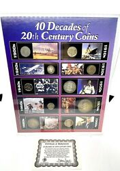 The Morgan Mint 10 Decades Of 20th Century Coins, Us Coin Collection 10 Coins