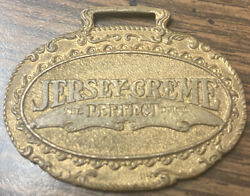 Rare Antique Jersey Creme Fort Worth Texas Chicago Illinois watch Fob Usa