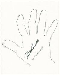 Scott Crossfield - Hand/foot Print Or Sketch Signed