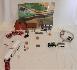 Big Lot Popek New-ray Farm Toys House Barn Stable Animals Fence Tractors And More