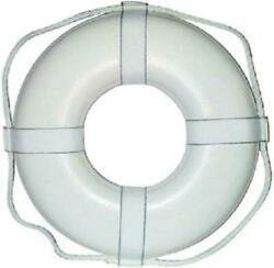 Cal-june 30 White Ring Buoy With Straps Gw-30