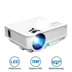 Projector 1080p 3d Led Video Home Theater Cinema Hdmi Projection Size 31-120in