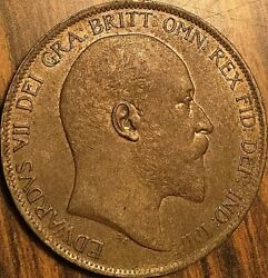1902 Great Britain Edward Vii One Penny - Fantastic Example